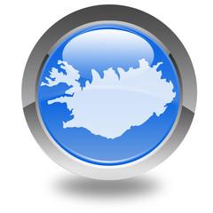 carte de l'Islande sur bouton