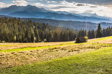 Mountains landscape.Tatra Mountains, Poland.