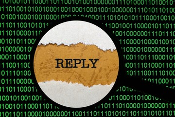 Search for online reply