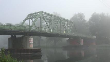 Bridge in Fog, Foggy, Smog, Air Pollution