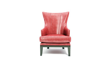 red seat leather