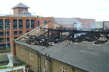 fire damage building