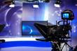 Leinwandbild Motiv recording show in TV studio