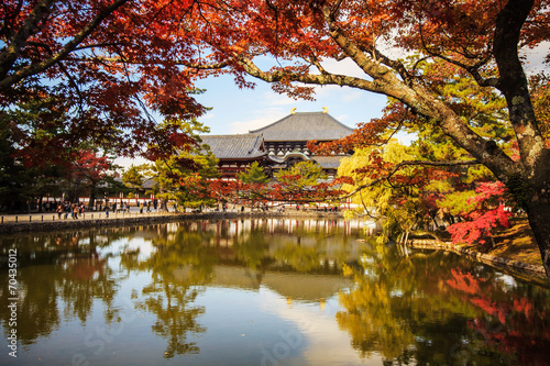 Foto op Aluminium Beijing The wooden tower of To-ji Temple in Nara Japan is the largest te