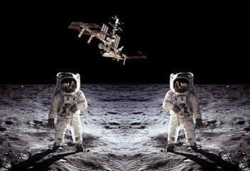 Astronauts Spaceman Moon