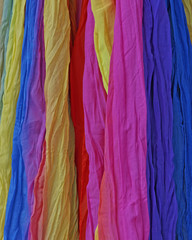 colorful fabrics background
