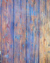 whethered blue painted wood background, space for typing