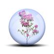 canvas print picture - Fleurs rose dans bulle