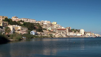 Sicilian Coast at Sciacca town.