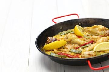 valencian paella, spanish cuisine