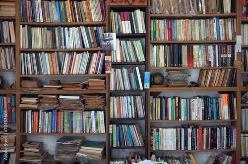 Leinwanddruck Bild Old book case