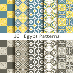 set of ten Egypt patterns