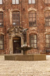 canvas print picture - Innenhof von Schloss Koldinghus mit Brunnen - Dänemark