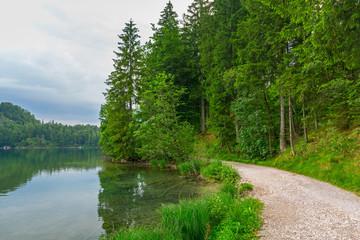 Idyllic lake scenery in Bavarian Alps, Germany