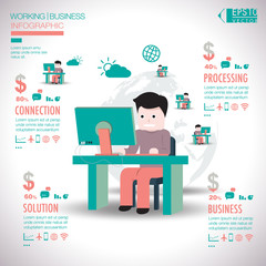 Working business infographic