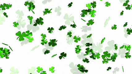 Abstract clover leaves on a white