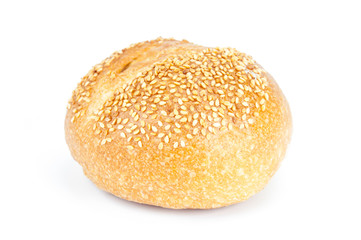 Fresh bread on white background.