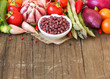 canvas print picture - Azuki beans and vegetables