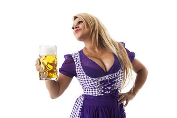 Bayerische Frau mit Bierkrug