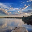 canvas print picture - отдых на реке