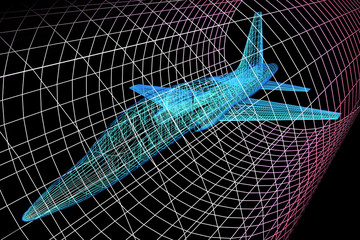 Aircraft Model In Wind Tunnel