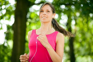 Woman jogging outdoor