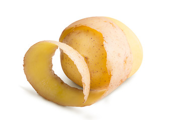 Raw potato isolated on a white background