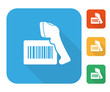 Barcode label with reader icon set - 70441807