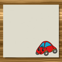 Car writing paper wood texture background