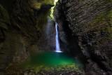 Fototapety Kozjak waterfall in the National Park of Triglav, Julian Alps, S