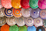 Fototapety Traditional arabic colorful clay plates.