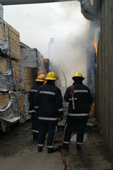 fire fighters at fire