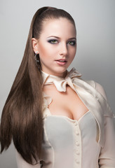 Portrait of long hair sexy girl