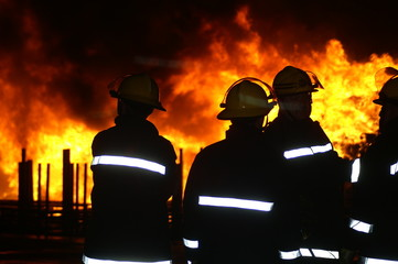 large factory fire