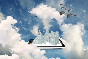Tablet PC and 3d city