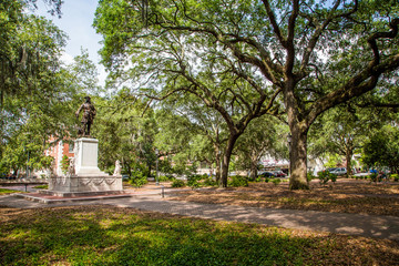 Savannah Park with Statue