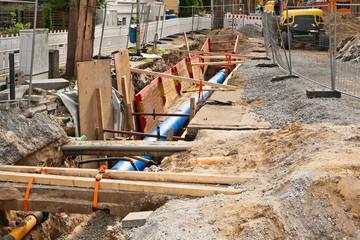 Verlegung einer neuen grossen Frischwasserleitung