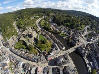 Aerial view on belgian city La Roche-en-Ardenne