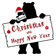 bs32 - BearSign - Merry Christmas and Happy New Year - e1749