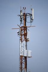 Radio antennas broadcast