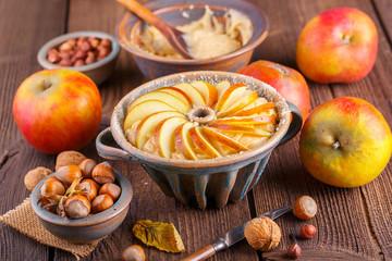 Apfelkuchen -  Zubereitung - Zutaten - Landhausstil