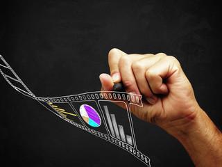 Disegno di una pellicola e diagrammi vari