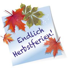 Endlich Herbstferien!