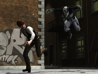 Man being hunted by urban werewolf