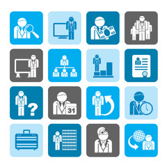Silhouette Business, management and hierarchy icons