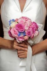 bridal, bride, bouqet, flowers, hands, love, wedding