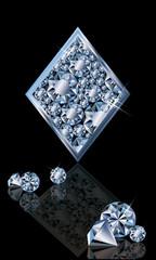 Brilliant poker card diamonds, vector illustration