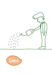 アイデアの種を育てる人