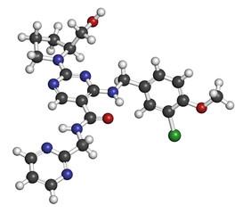 Avanafil erectile dysfunction drug molecule. PDE5 inhibitor.