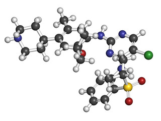 Ceritinib cancer drug molecule. ALK inhibitor.